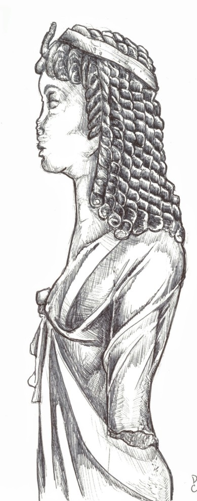 profile of Queen dressed as Isis, 2nd century BC. Thonis-Heracleion