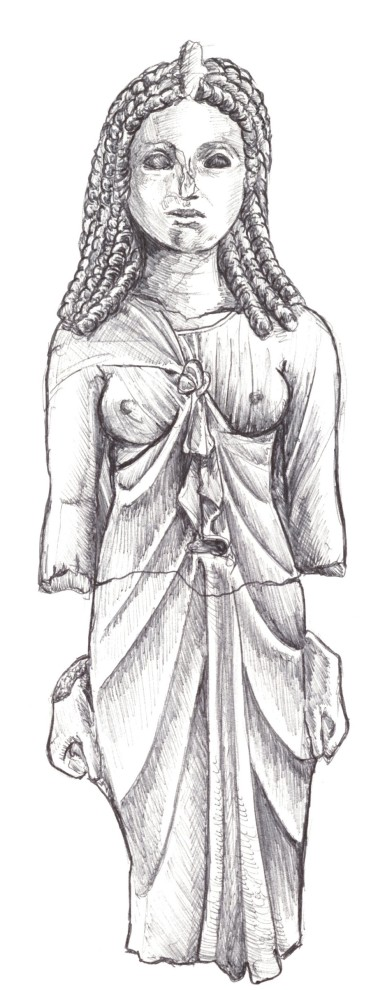 front view of Queen dressed as Isis, 2nd century BC. Thonis-Heracleion